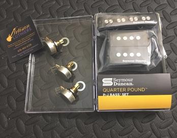Bass pickups repair, replacement, upgrade installation